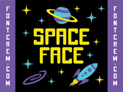 SPACE FACE FONT font crew font lettering space