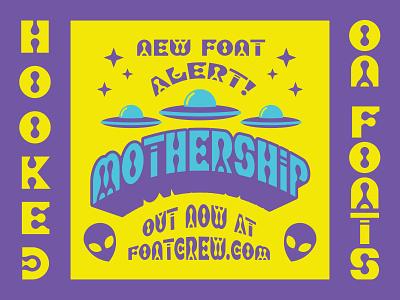 Mothership Font customfont typeface font alien