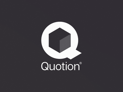 Quotion Logo logo isometric it hexagon cube