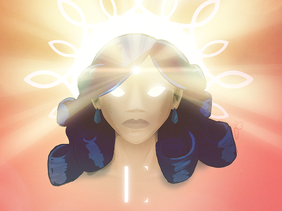 Dewi Matahari restraining order fodder woman star sun goddess light ay yo where her pupils be at curls or pastry rolls idk forehead high beams