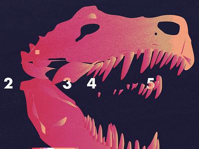 Indominus List disembodied fangs pink run numbers run skull dinosaur dino