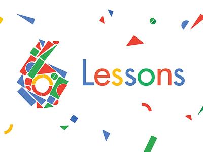 Six Lessons… google color blocks editorial article illustration