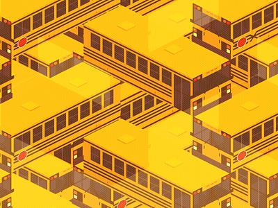 Buses pattern yellow school bus bus school
