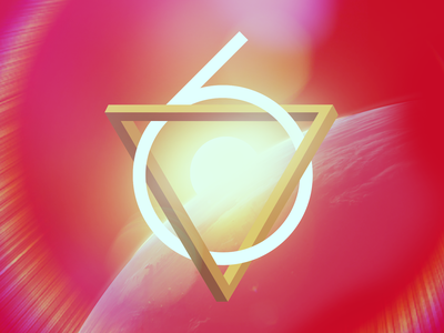 Trifecta6 impossible object space triangle six 6 lens flare halo red earth