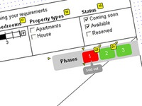 Phases control on interactive siteplan
