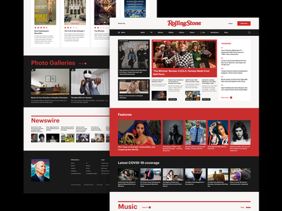 Rolling Stone Magazine Redesign Concept webdesign magazine news redesign website ux design ui design interface design