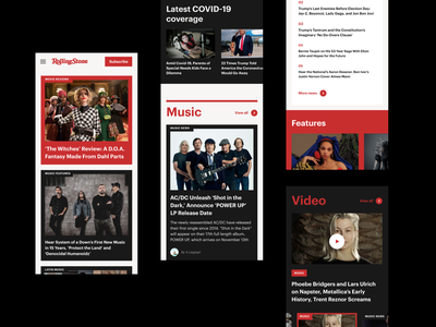 Rolling Stone Magazine Redesign Concept redesign news ui magazine ux website ux design ui design interface design