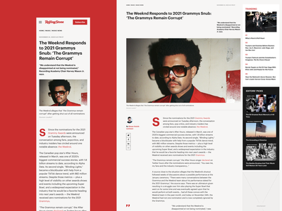 Redesign Rolling Stone ui redesign ux news magazine ux design website interface ui design design