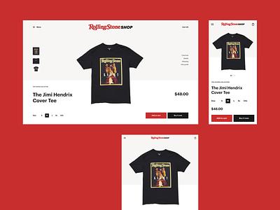Rolling Stone Shop Redesign Concept news redesign magazine minimalist ux website ux design ui design interface design