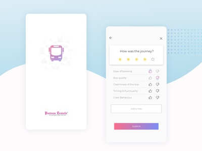 Review and Feedback Screen - Mobile App