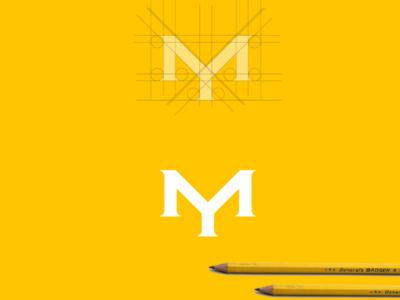 YM monogram logo design