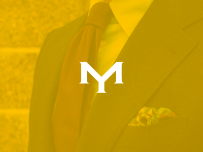 Ym monogram for fashion branding