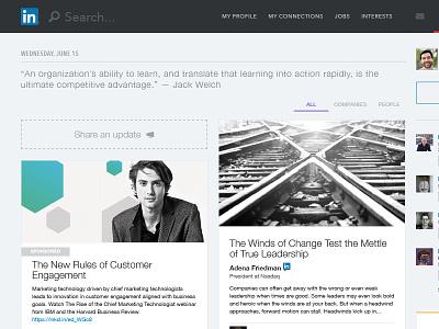 Linkedin Redesigned social redesign concept linkedin