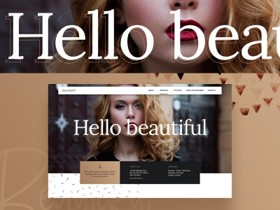 Salon style frame beauty typography ui  ux ui