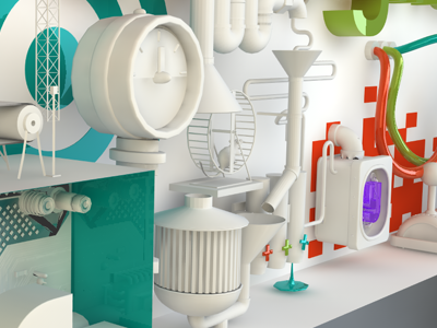 3DPaloooooza syfy 3d c4d white facebook futuristic
