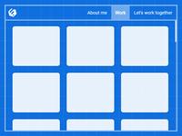Portfolio like blueprint theme concept