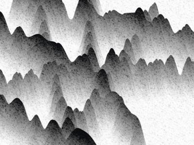 Spline Mountains book nature snow mountains creative coding graphic design generativedesign c4d 3dart 3d cinema4d render spline noise black and white picture image branding vector illustration