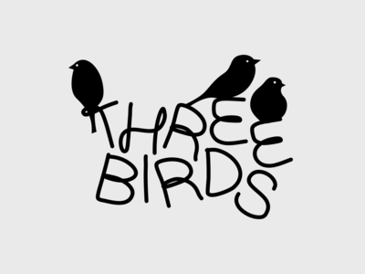 Three Birds socialmedia content store children clothes apparel fashion kids birds logotype letters font illustration brand alphabet lettering logo typography branding identity