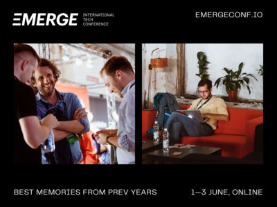 EMERGE, 1—3 June challenge speakers venture investor startup silicon valley event branding unicorn party conference technology tech event brand lettering logo identity branding