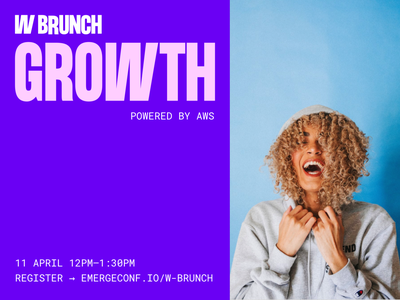 W Brunch startup money business support feminism online conference meetup event digital power women tech typeface technology lettering brand typography branding identity