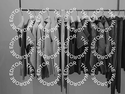 The Wardrobe Editor editor wardrobe circle typeface typography wordmark fashion branding identity logo