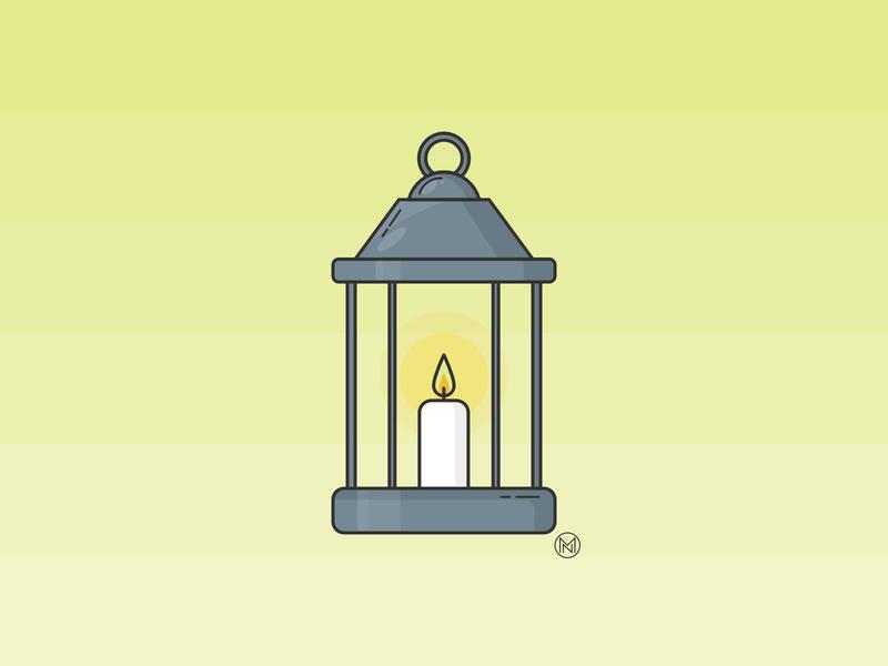 Lantern decoration app design app candle fire light christmas illustrator shapes web cartoon illustration simple outline vector design webdesign lantern
