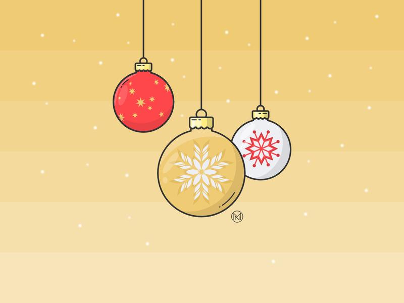 Decorations christmastree tree decorations shapes christmas illustrator web illustration simple outline vector design webdesign decoration
