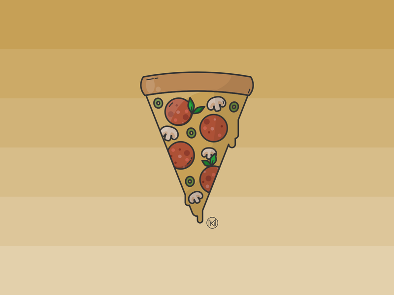 Pizza Time drawing salami graphic design pizza menu food and drink food illustration snack illustrator shapes cartoon illustration simple outline webdesign vector food italy lunch time pizza