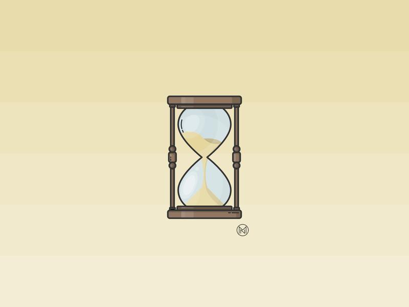 Hourglass wood wooden designer illustrator web cartoon illustration simple outline design webdesign vector clock sand time hourglass