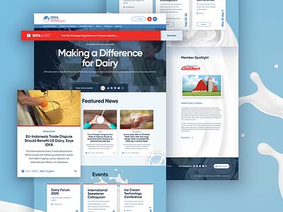 IDFA Website agency engage responsive homepage web website ux ui ui  ux cheese milk dairy