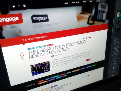 Engage • Blog teamengage blog post wordpress web website article news agency design