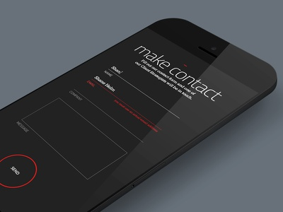 Engage • Mobile Contact Form teamengage contact form mobile responsive web website ui ux