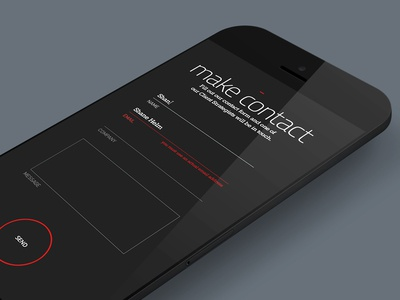 Engage • Mobile Contact Form
