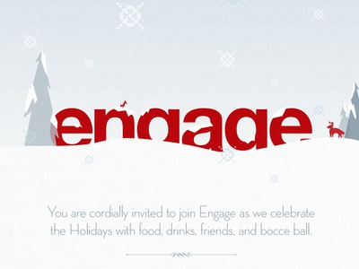 Engage Christmas Party Invitation