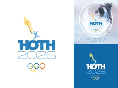 HOTH 2026 lightsaber star wars hoth olympics skywalker tauntaun winter jedi movie parody logo