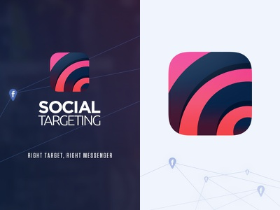 Social Targeting • App Icon product politics targeting social sharing app icon