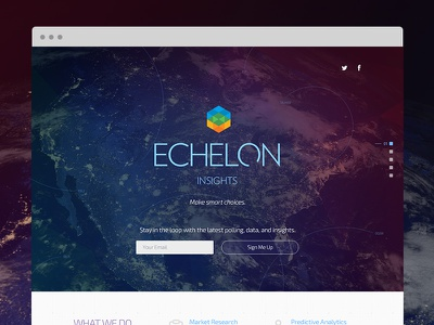Echelon site space web 1-pager data analytics poll