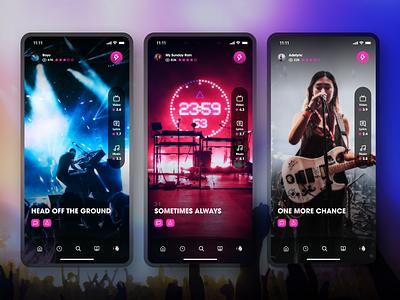 Muse-ic App lyrics player video concert social sharing ui ratings music app