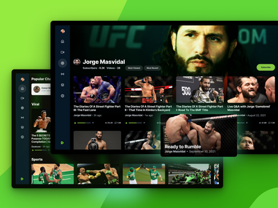 Rumble HDTV App hdtv tv app television interface ui social rumble unfold video network player