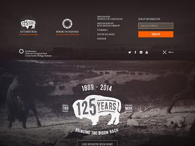 Smithsonian Zoo • Menu interactive web landing page bison zoo smithsonian menu navigation nav