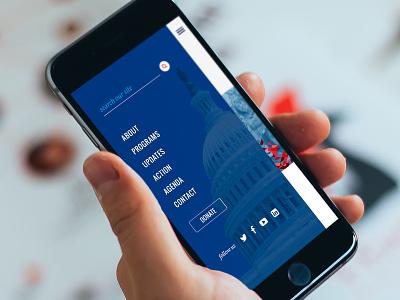 NIF Mobile Menu mobile menu navigation america politics immigration national forum usa