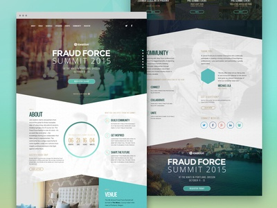 Fraud Force Summit 2015 fraud force summit conference security internet web design landing page 1 pager portland oregon