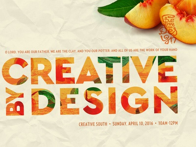 Creative by Design 2016 conference worship study bible georgia peaches creative by design design south creative