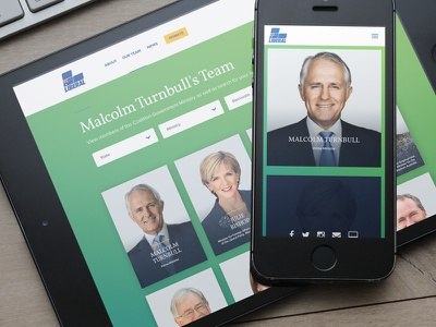 Liberal Party Members website politics interface election australia 2016