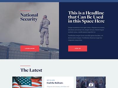 GOP Responsive Landing Page landing page web ui republicans house congress america gop politics