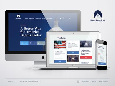 GOP Responsive Landing Page