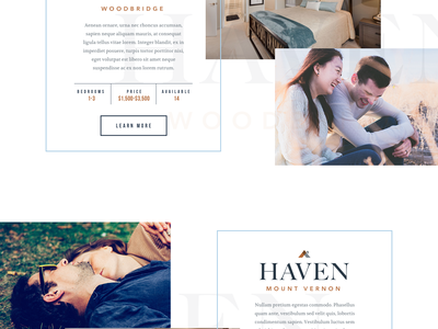 Haven WIP apartments homes engage lifestyle website ui web real estate