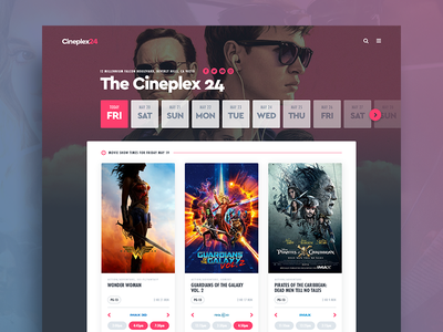Movie Tickets (desktop) tickets film movies purchase interface ticket movie app