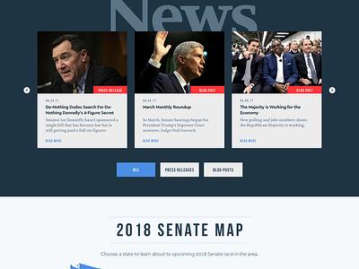 NRSC Design content vote senate republicans politics design ui web