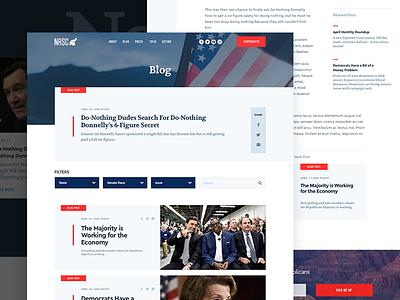 NRSC Blog & Post post blog web ui design politics republicans senate vote content